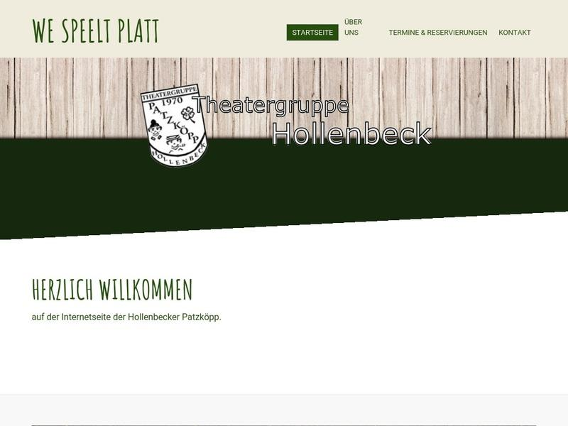 Screenshot von www.theatergruppe-hollenbeck.de